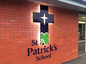 St-Patricks-School-Sign-Christchurch-NZ