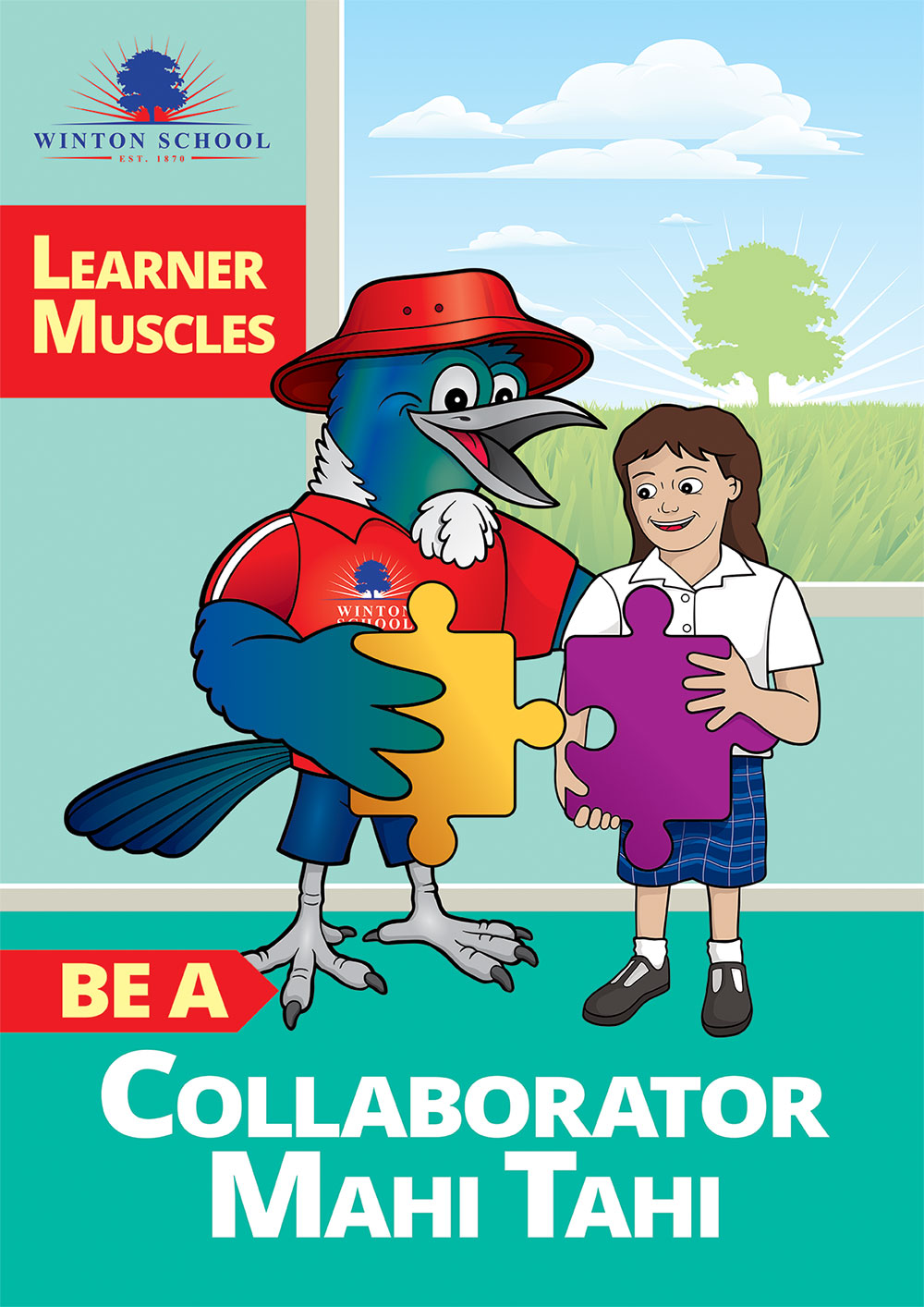 Winton School Collaborator Poster Southland NZ