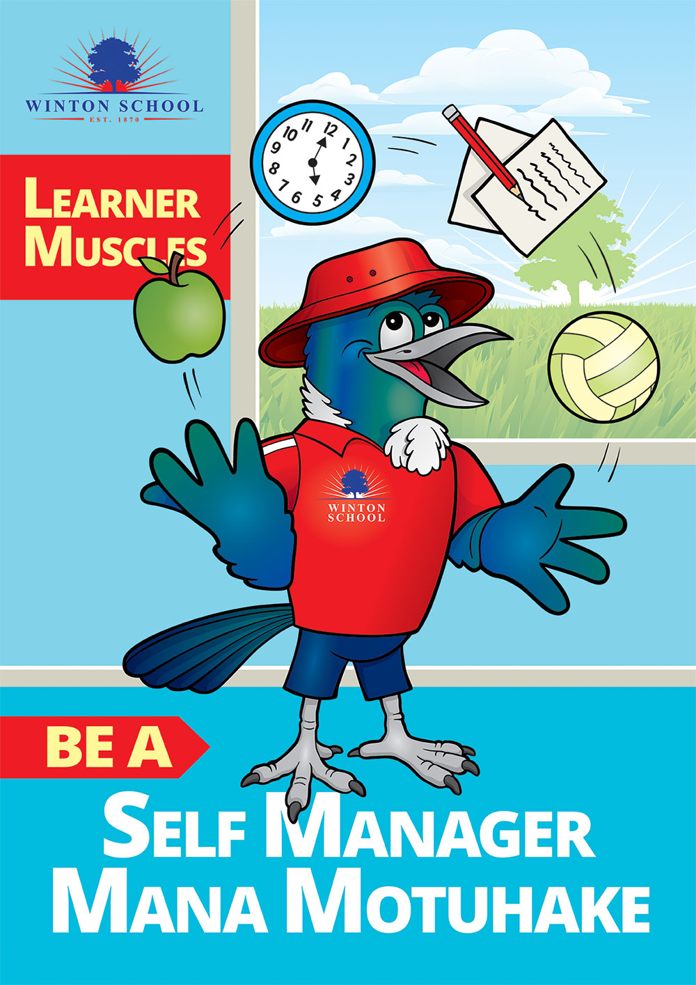 Winton School Self Manager Poster Southland NZ