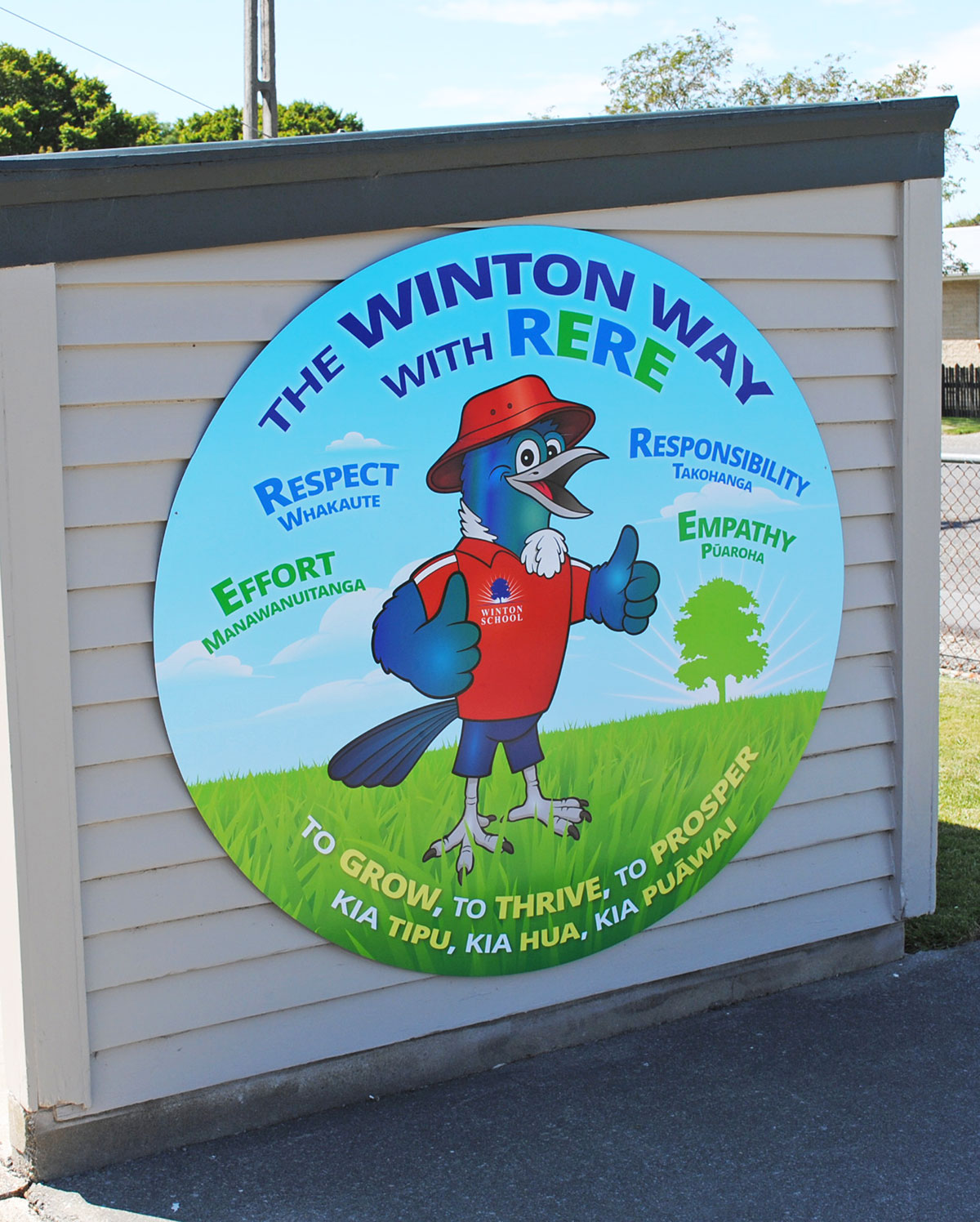 Winton Way Wall Graphic Southland NZ