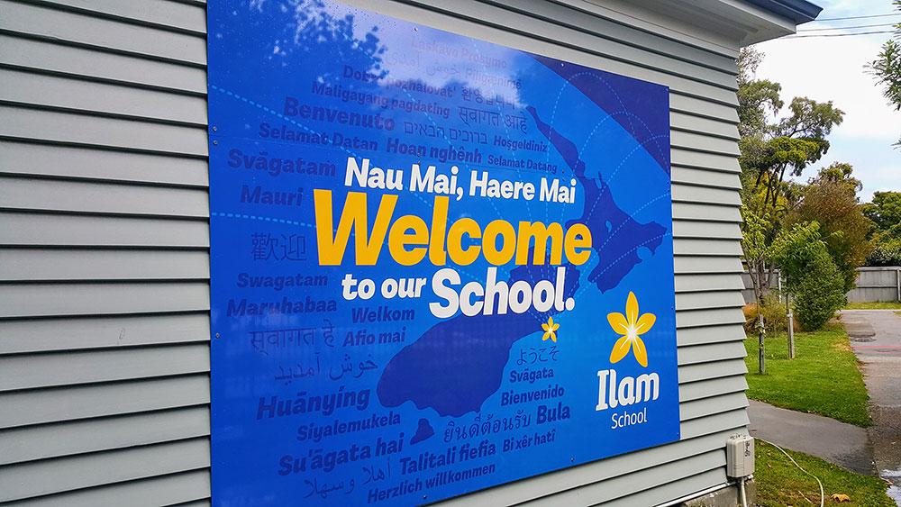 Ilam School Front Sign