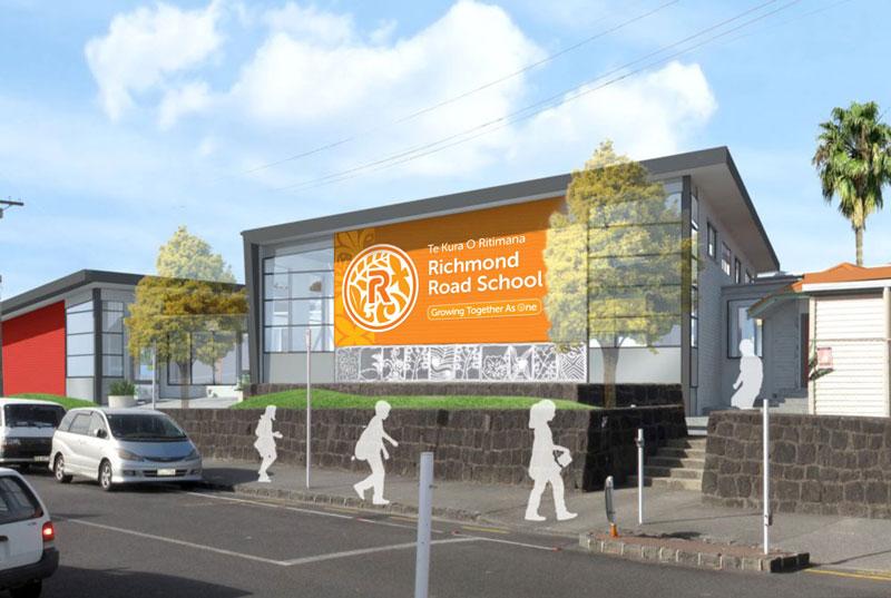 New School Building Mock-up