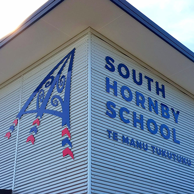 South Hornby School Logo Rebuild Christchurch NZ