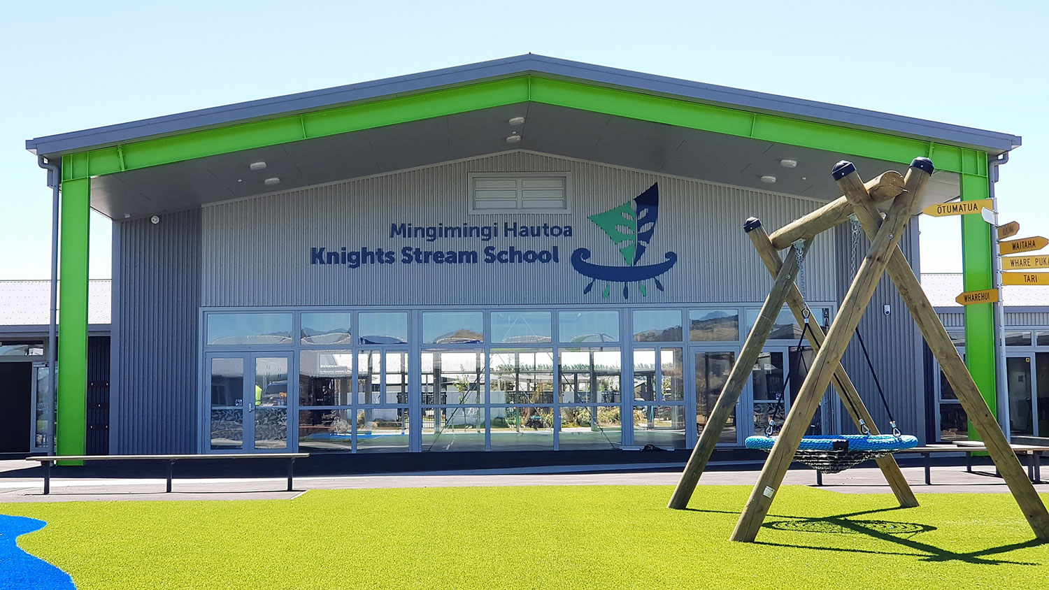 Knights Stream School New Signage Christchurch NZ