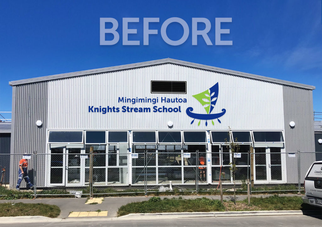 Knights Stream School Sign Mock-up