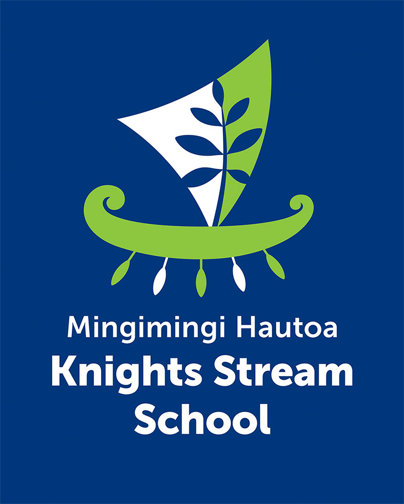 Knights-Stream-School-Logo-on-Blue-Background