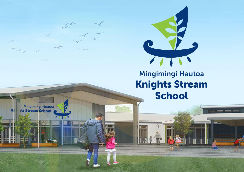 Knights Stream School Branding Christchurch NZ