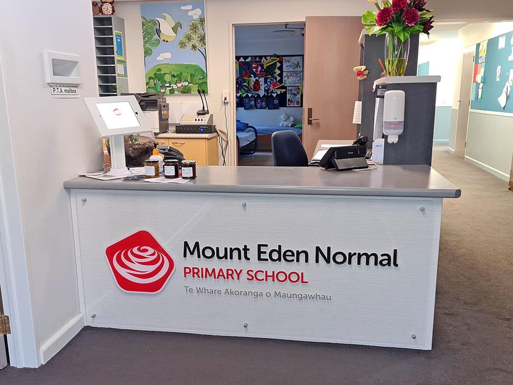 Mt-Eden-Normal-Primary-School-Reception-Signage-Auckland-NZ