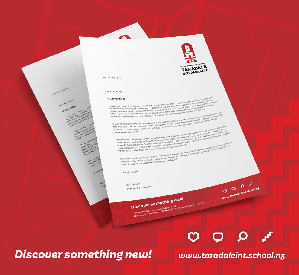 Taradale-Intermediate-Letterhead-Design-Hawkes-Bay-NZ