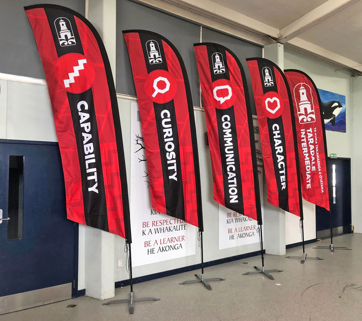 Taradale-Intermediate-Values-flags-Napier-New-Zealand