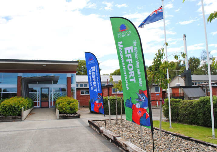 PB4L Winton Way Flags - Winton School, Southland