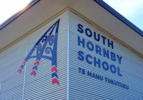 South Hornby School Sign Christchurch NZ