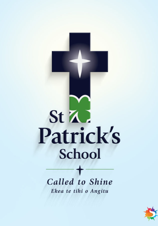 St Patrick's School Logo Backlit Christchurch NZ